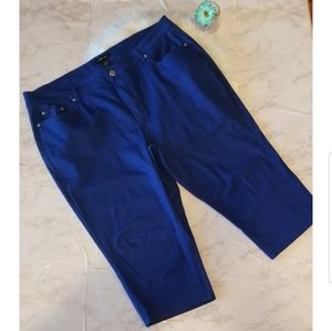 Plus Blue Capri Jean
